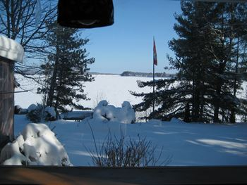 Bungalow Quebec - der See im Winter