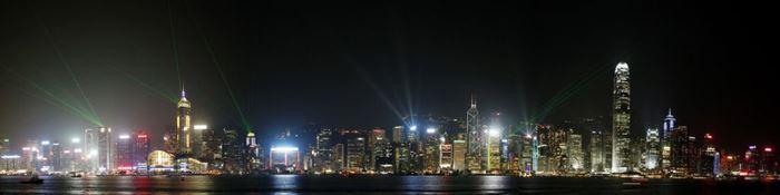 Hong-Kong bei Nacht
