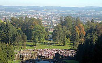 Blick auf Kassel vom Herkules