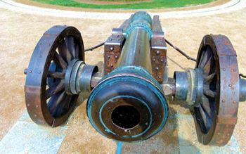 Kanone auf dem Schlossplatz