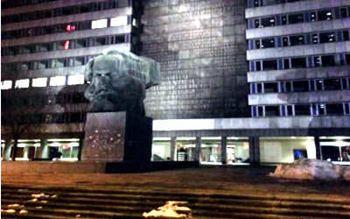 Karl Marx Büste in Chemnitz