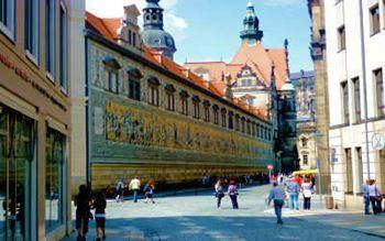 Panoramabild Fürstenzug in Dresden