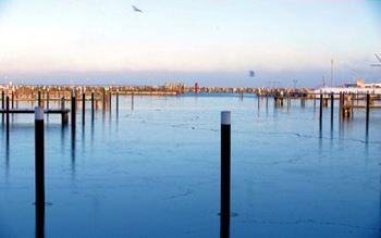 Hafen von Damp im Winter