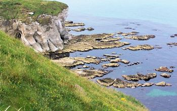 Klippen an der nordirischen Küste