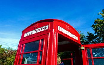 Die rote Telefonzelle