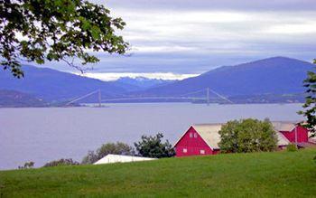 Blick auf ein Fjord
