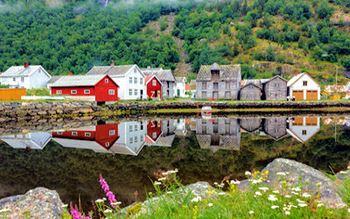 Fischerhäuser in Laertal