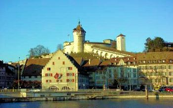 Schaffhausen mit der Festung Munot