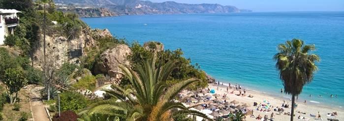 Nerja - Strand in Andalusien