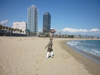 Kerstin am Strand