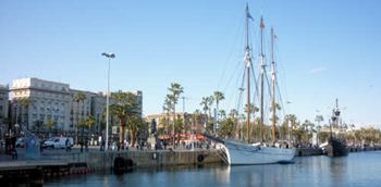 Der Hafen in Barcelona